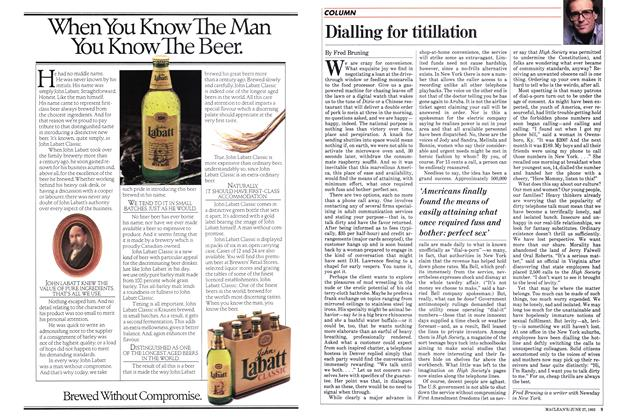 Article Preview: Dialling for titillation, June 1983 | Maclean's