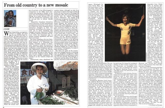 Article Preview: From old country to a new mosaic, July 1983 | Maclean's