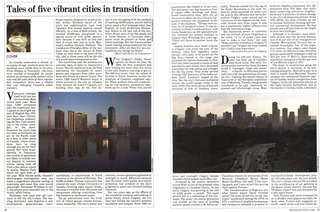 Article Preview: Tales of five vibrant cities in transition, July 1983 | Maclean's