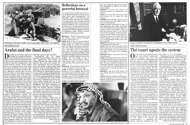 Article Preview: Arafat and the final days?, July 1983 | Maclean's