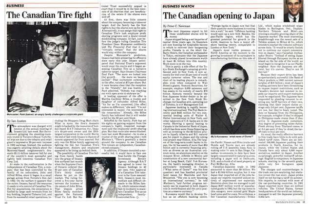 Article Preview: The Canadian opening to Japan, July 1983 | Maclean's