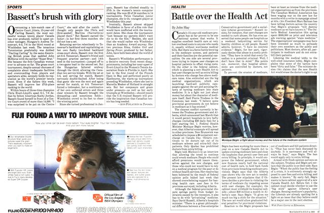 Article Preview: Battle over the Health Act, July 1983 | Maclean's