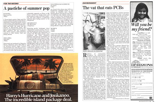 Article Preview: The vat that eats PCBs, July 1983 | Maclean's