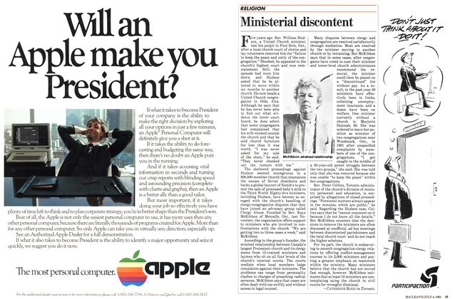 Article Preview: Ministerial discontent, July 1983 | Maclean's