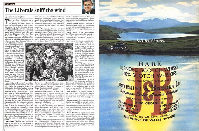 Article Preview: The Liberals sniff the wind, July 1983 | Maclean's