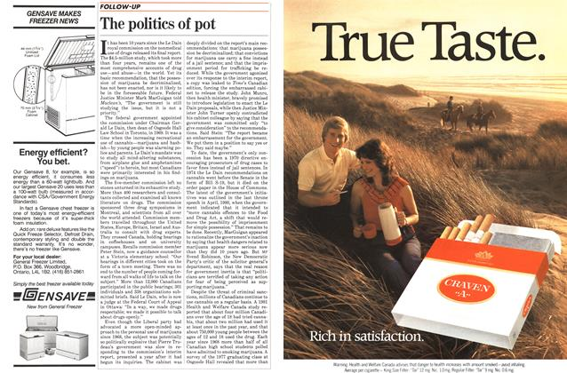 Article Preview: The politics of pot, July 1983 | Maclean's