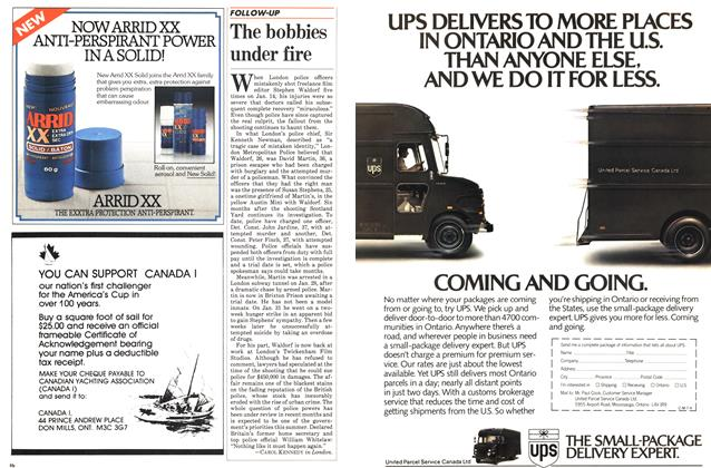 Article Preview: The bobbies under fire, July 1983 | Maclean's