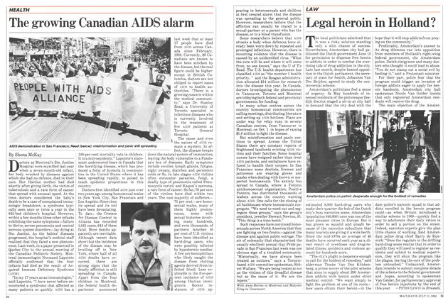 Article Preview: The growing Canadian AIDS alarm, July 1983 | Maclean's