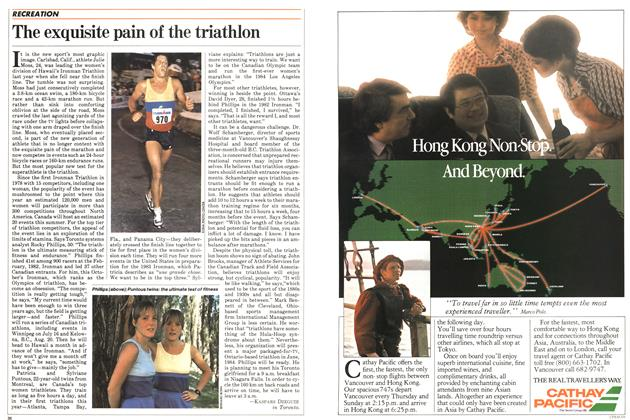 Article Preview: The exquisite pain of the triathlon, July 1983 | Maclean's