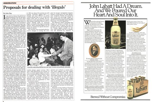 Article Preview: Proposals for dealing with 'illegals', July 1983 | Maclean's