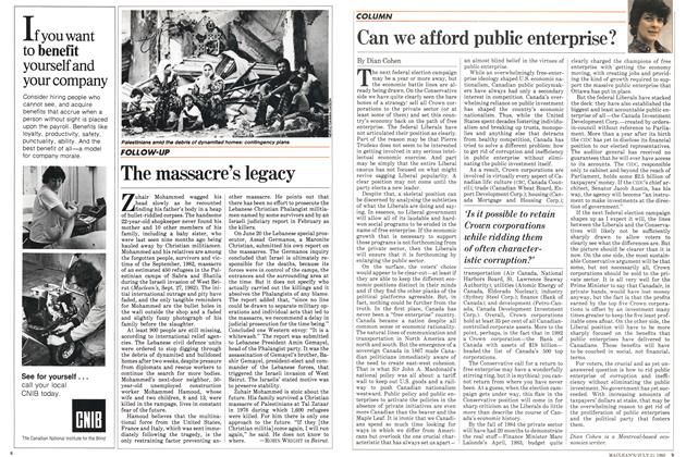 Article Preview: The massacre's legacy, July 1983 | Maclean's