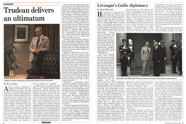 Article Preview: Lévesque's Gallic diplomacy, July 1983 | Maclean's