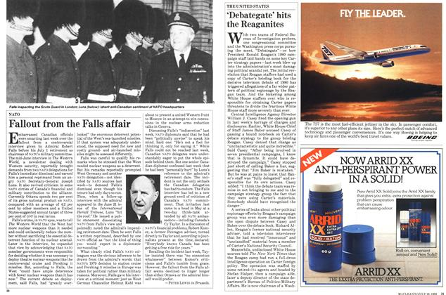 Article Preview: Fallout from the Falls affair, July 1983   Maclean's