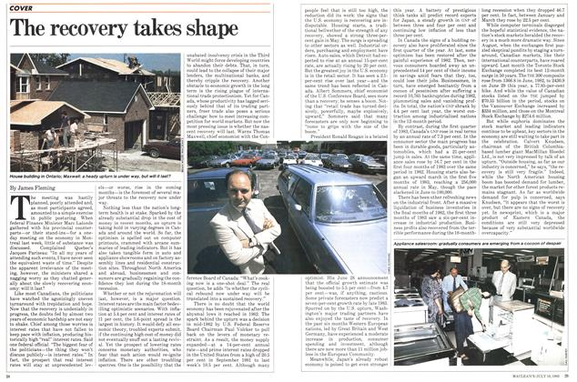 Article Preview: The recovery takes shape, July 1983 | Maclean's