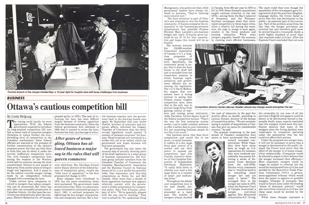 Article Preview: Ottawa's cautious competition bill, July 1983 | Maclean's