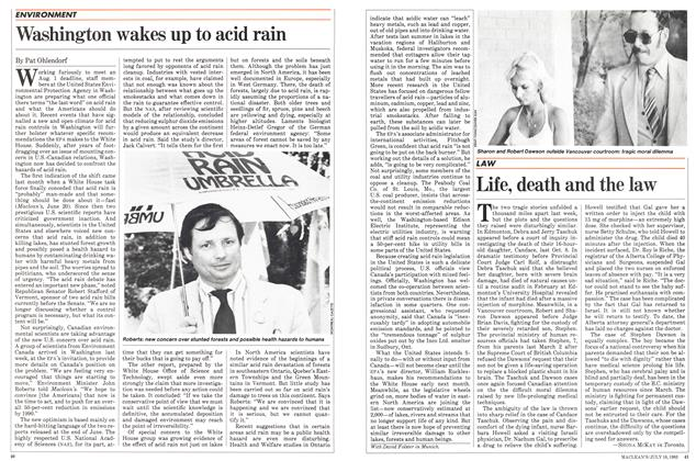 Article Preview: Washington wakes up to acid rain, July 1983 | Maclean's