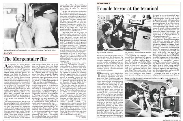 Article Preview: Female terror at the terminal, July 1983 | Maclean's