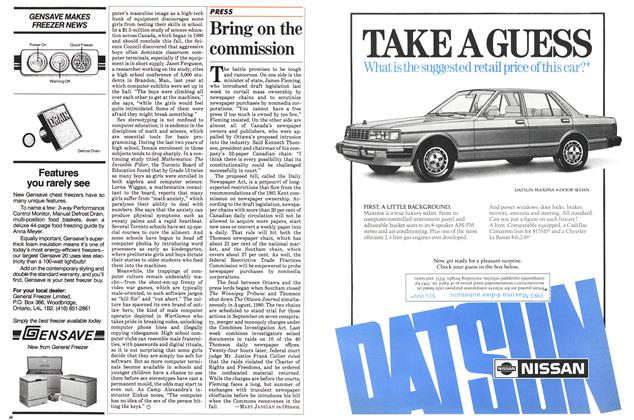 Article Preview: Bring on the commission, July 1983 | Maclean's