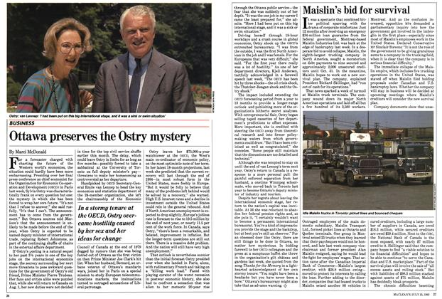 Article Preview: Ottawa preserves the Ostry mystery, July 1983 | Maclean's