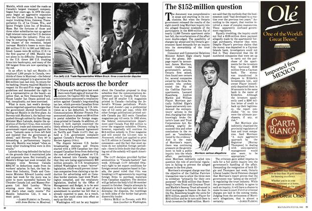 Article Preview: The $152-million question, July 1983 | Maclean's