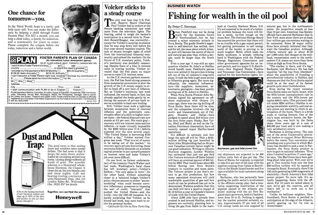 Article Preview: Fishing for wealth in the oil pool, July 1983 | Maclean's