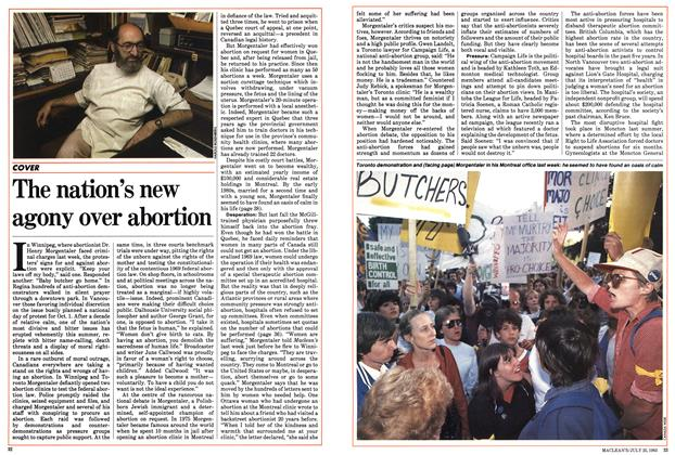 Article Preview: The nation's new agony over abortion, July 1983 | Maclean's