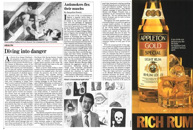 Article Preview: Antismokers flex their muscles, July 1983 | Maclean's