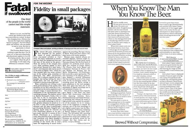 Article Preview: Fidelity in small packages, July 1983 | Maclean's