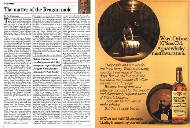 Article Preview: The matter of the Reagan mole, July 1983   Maclean's