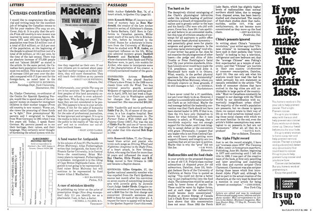 Article Preview: LETTERS, July 1983 | Maclean's