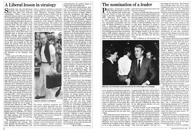 Article Preview: The nomination of a leader, July 1983 | Maclean's