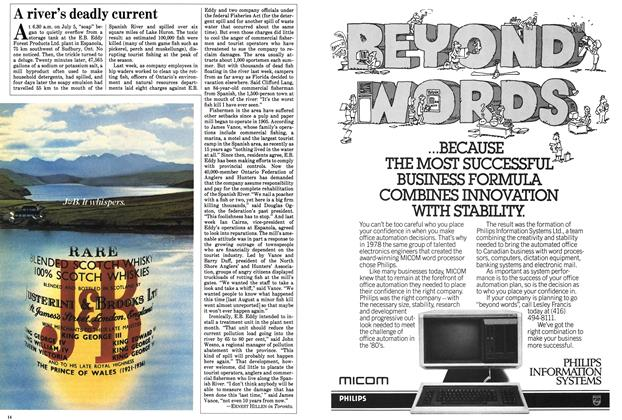 Article Preview: A river's deadly current, July 1983 | Maclean's