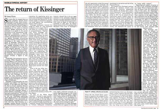 Article Preview: The return of Kissinger, August 1983 | Maclean's