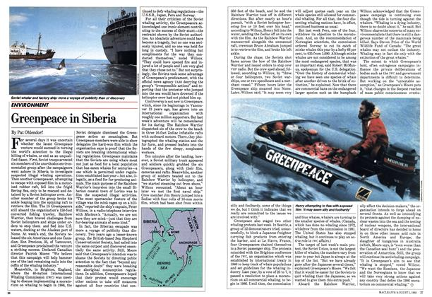 Article Preview: Greenpeace in Siberia, August 1983 | Maclean's