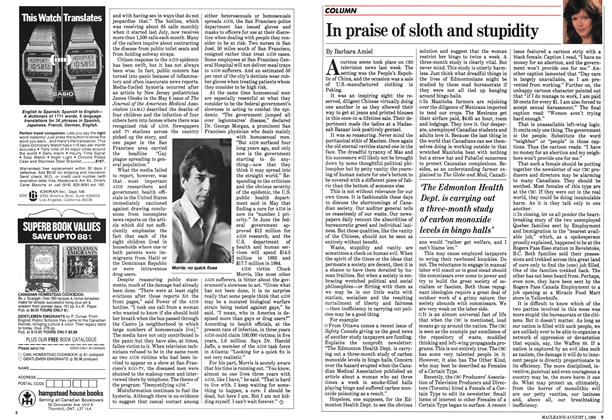 Article Preview: In praise of sloth and stupidity, August 1983 | Maclean's