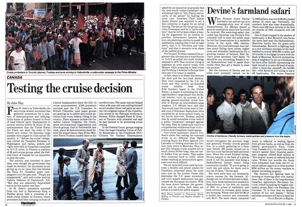 Article Preview: Testing the cruise decision, August 1983 | Maclean's