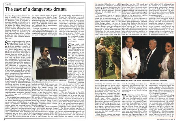 Article Preview: The cast of a dangerous drama, August 1983 | Maclean's