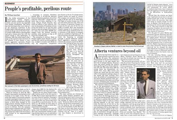 Article Preview: Alberta ventures beyond oil, August 1983 | Maclean's