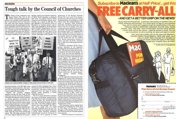 Article Preview: Tough talk by the Council of Churches, August 1983 | Maclean's