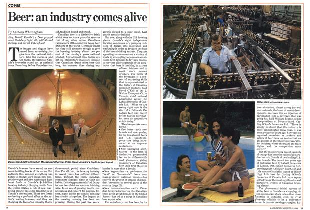 Article Preview: Beer: an industry comes alive, August 1983 | Maclean's