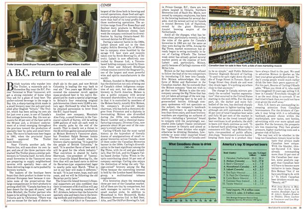 Article Preview: A B.C. return to real ale, August 1983 | Maclean's