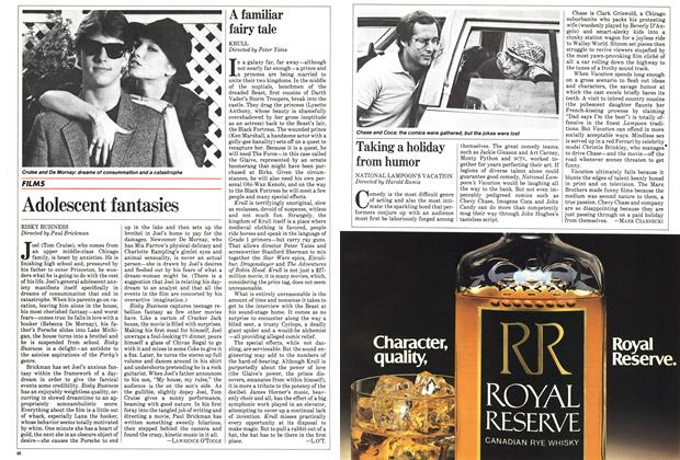 Article Preview: Adolescent fantasies, August 1983 | Maclean's