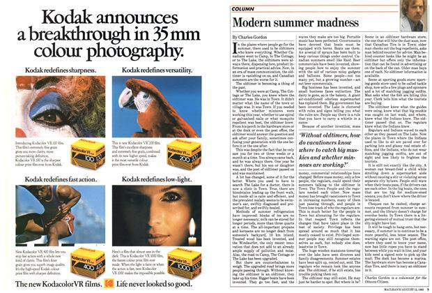 Article Preview: Modern summer madness, August 1983 | Maclean's