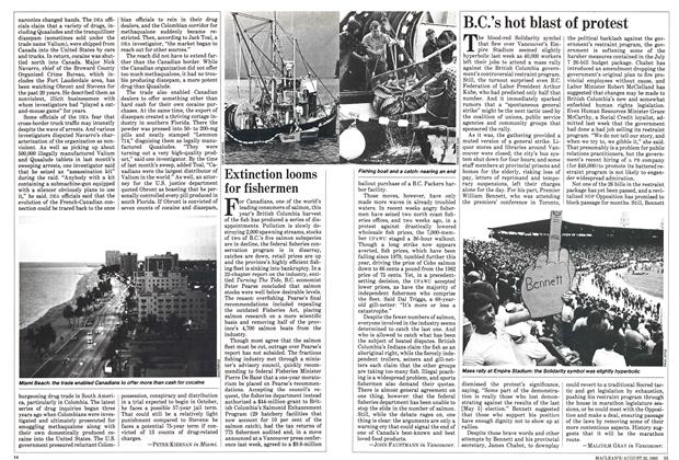 Article Preview: B.C.'s hot blast of protest, August 1983 | Maclean's