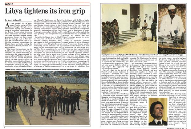 Article Preview: Libya tightens its iron grip, August 1983 | Maclean's