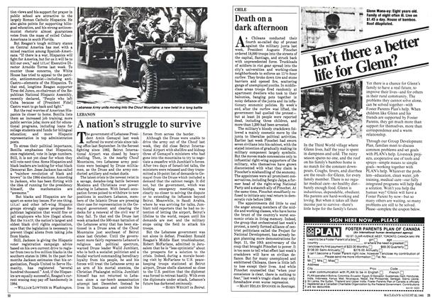 Article Preview: A nation's struggle to survive, August 1983 | Maclean's