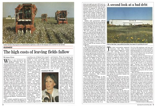 Article Preview: The high costs of leaving fields fallow, August 1983   Maclean's