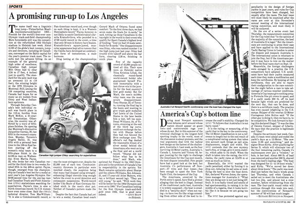 Article Preview: A promising run-up to Los Angeles, August 1983 | Maclean's