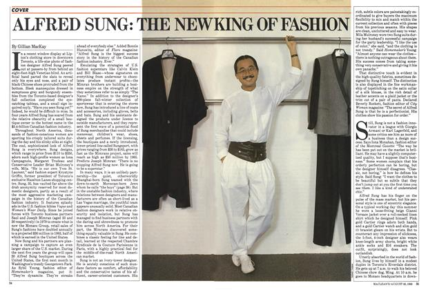 Article Preview: ALFRED SUNG: THE NEW KING OF FASHION, August 1983 | Maclean's