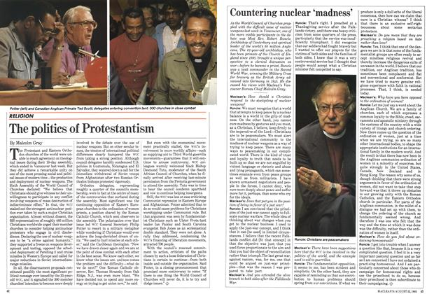 Article Preview: The politics of Protestantism, August 1983 | Maclean's